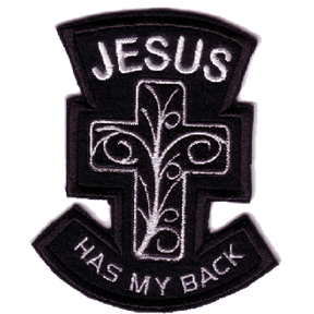 Jesus Has My Back Embroidered Patch Embroidered Patches Patches Embroidered