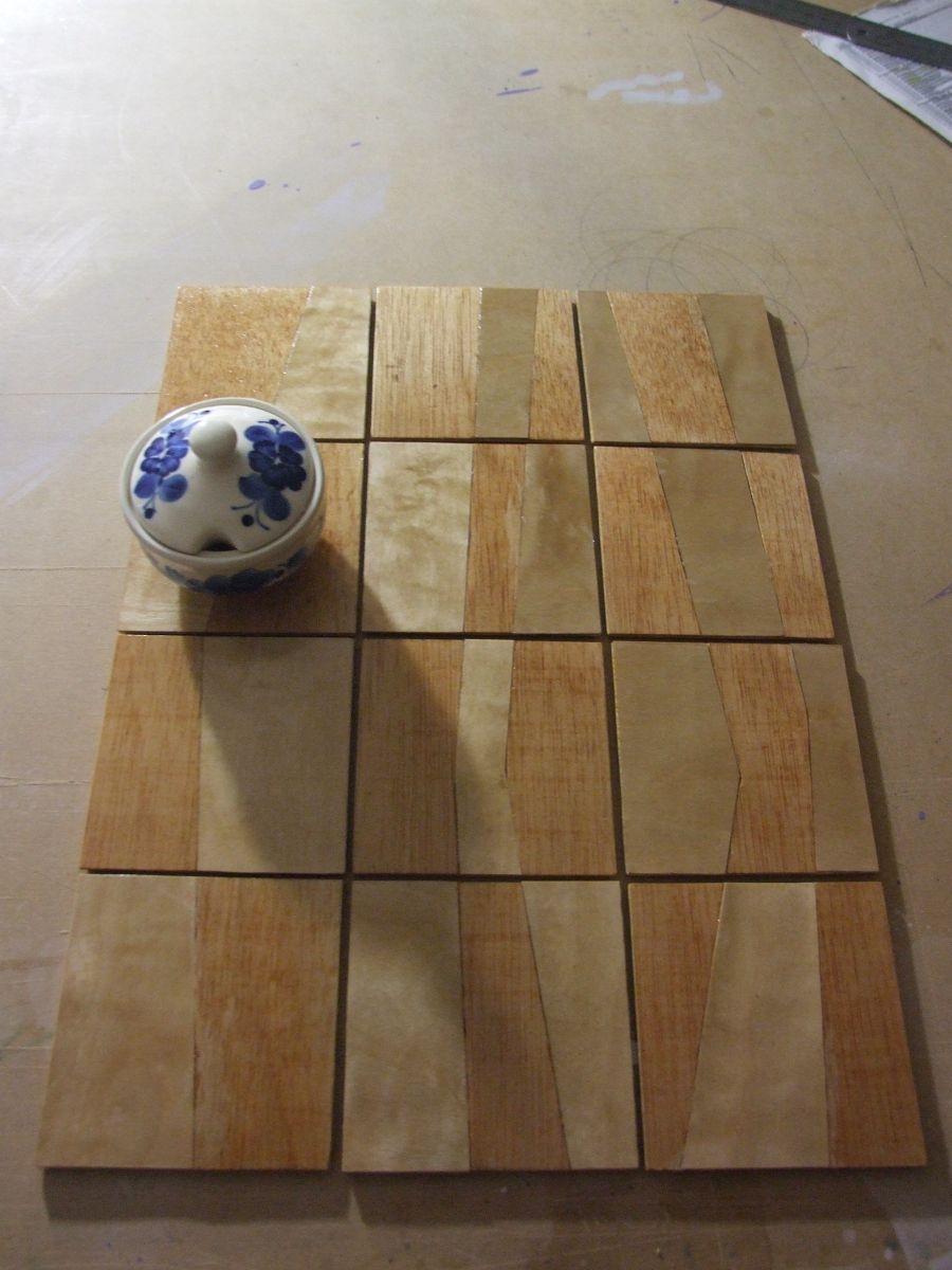 #arte #abstacto #madera #posavasos #barniz #proceso #marqueteria #2011