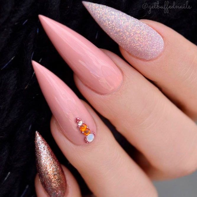 33 Best Long Nail Designs for Glamorous Girls | Long nail designs ...