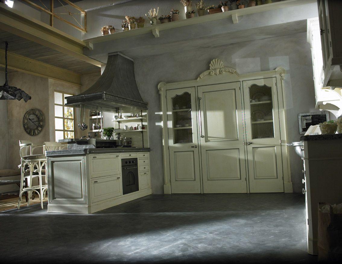 Marchi Group - Dhialma Cucina componibile - Cucina Country laccata ...