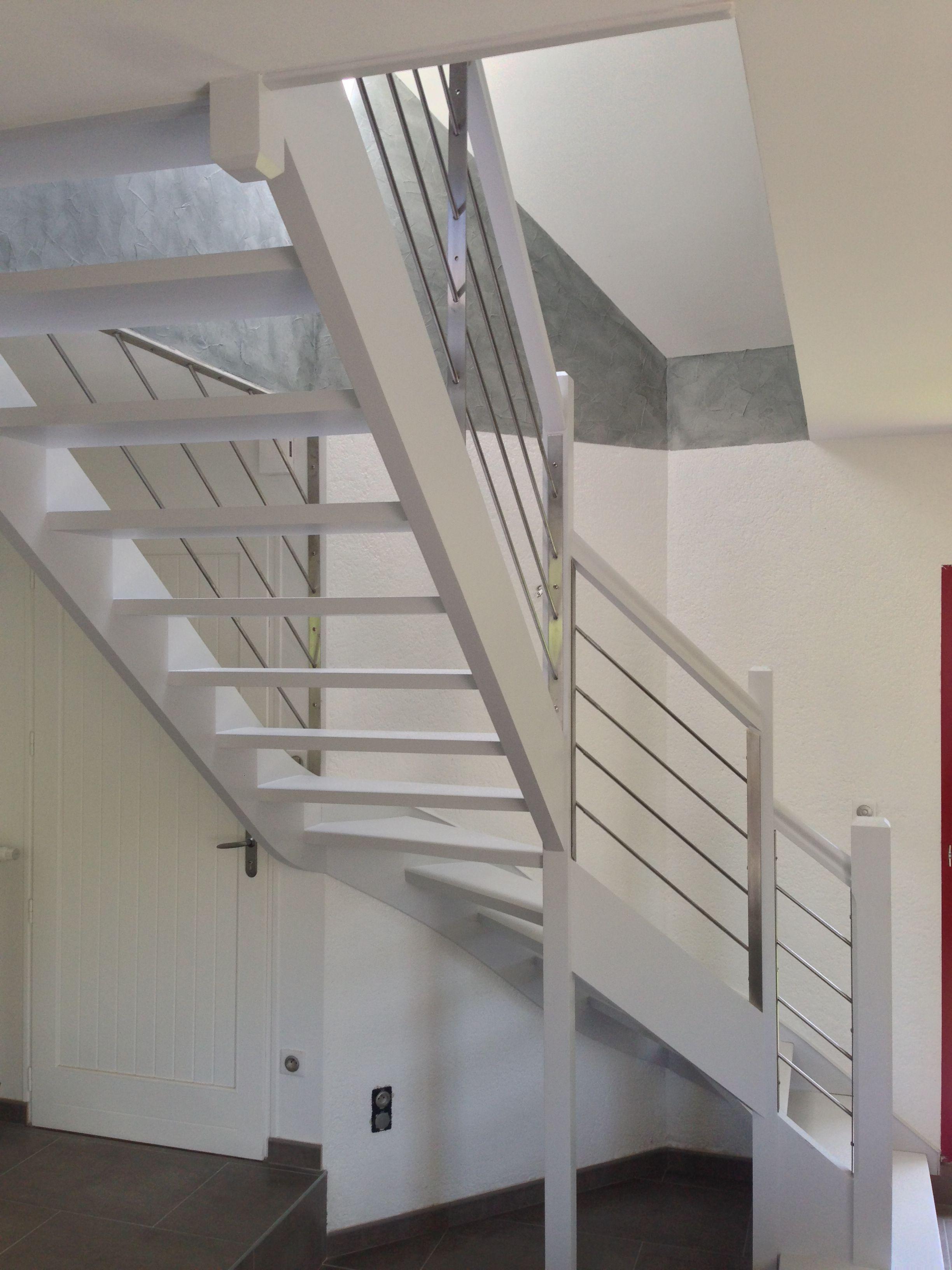 Garde Corps Bois Inox Art Metal Concept Quimper Http Artmetalconcept E Monsite Com Album Garde Corps Staircase Handrail Staircase Stairs