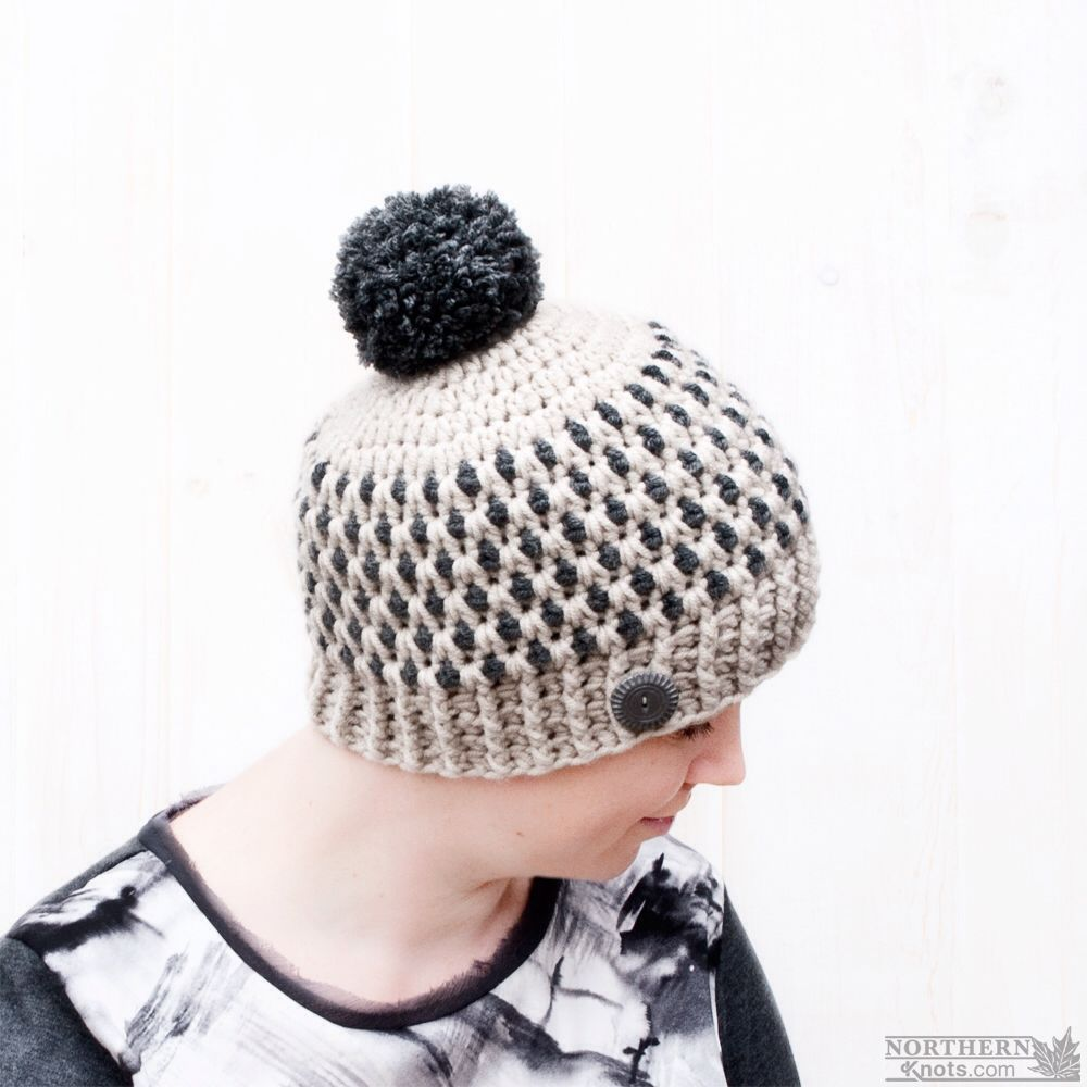 Crochet hat pattern - Speckled Ridge Beanie (Hat) by Northern Knots ...
