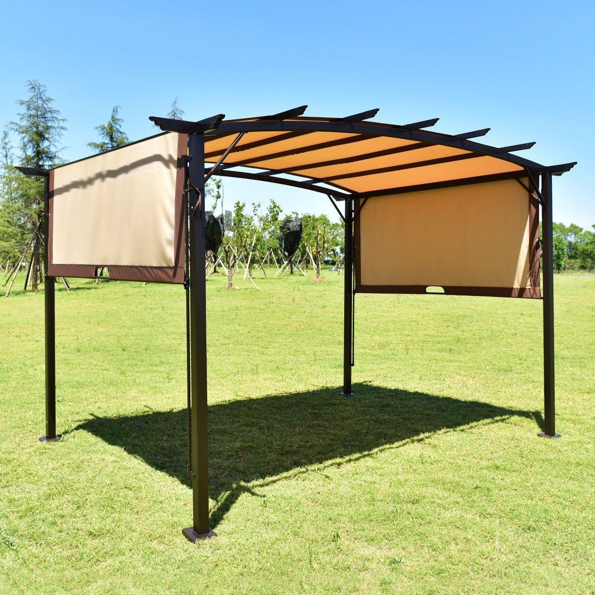 12 X 9 Pergola Kit Metal Frame Grape Gazebo Canopy Cover