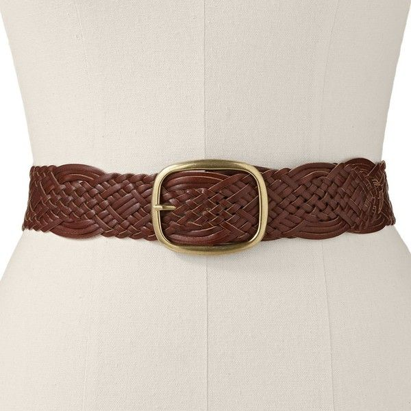 SONOMA Goods for Life™ Braided Belt, Women's, Size: X LARGE, Brown ($26) ❤ liked on Polyvore featuring accessories, belts, brown, wide belt, buckle belt, woven belt, wide buckle belt and wide brown belt