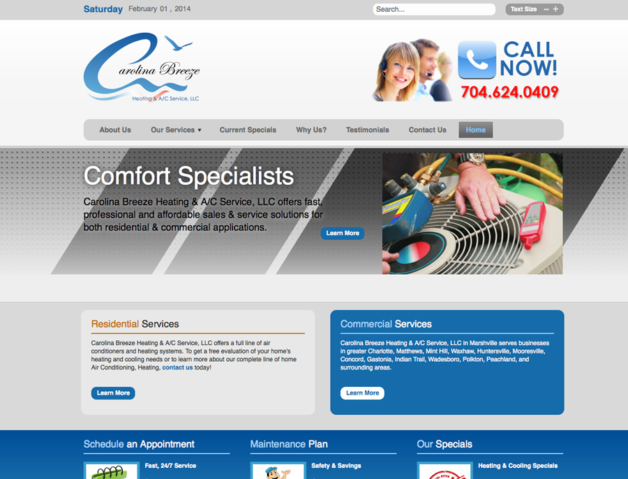 Logo Design And Database Driven Website For Heat And Air Contractor Contractors Solutions Logo Design