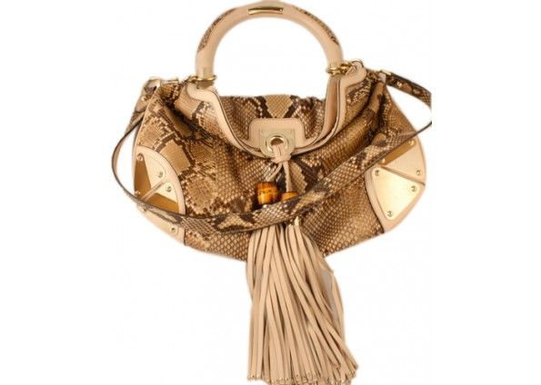 Gucci Python Tassel & Bamboo Indy Bag *Layaway Available*
