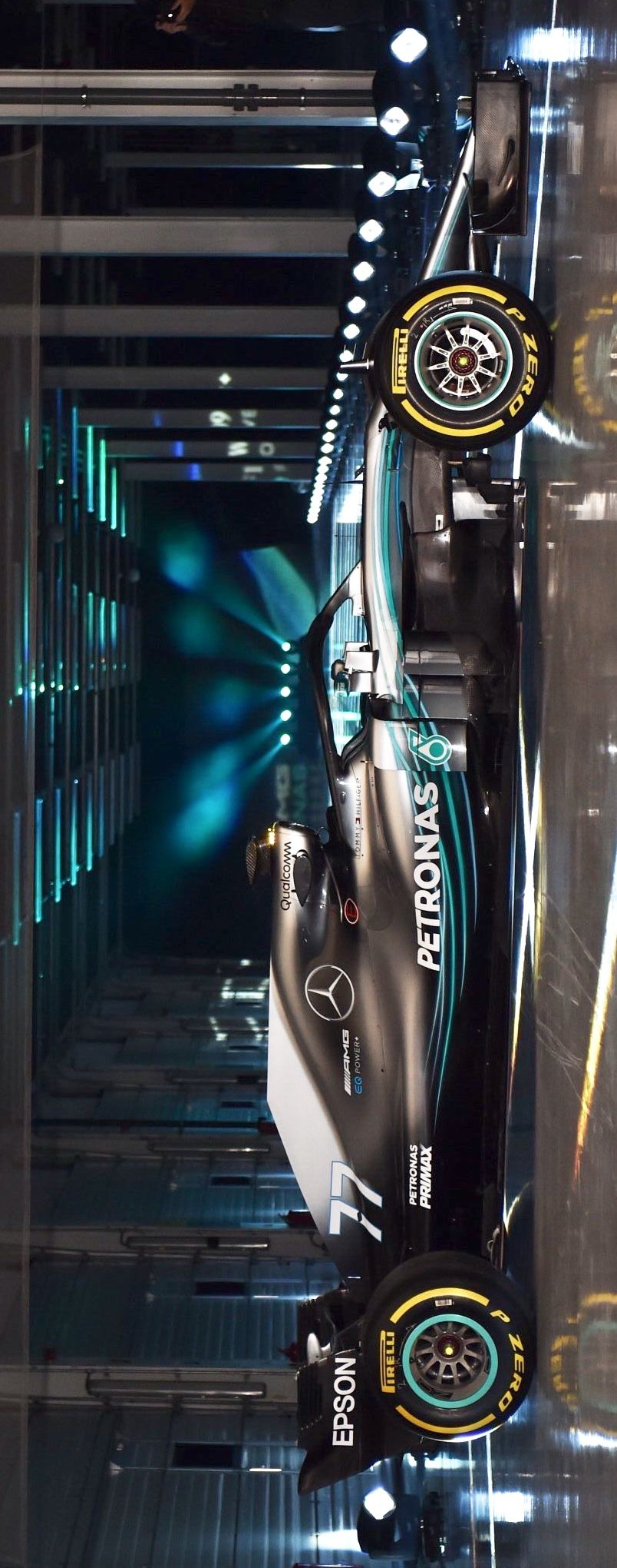 2018/2/23:Twitter: @LaurenNBaily: The new @MercedesAMGF1 is gorgeous! Hope it has the speed ...