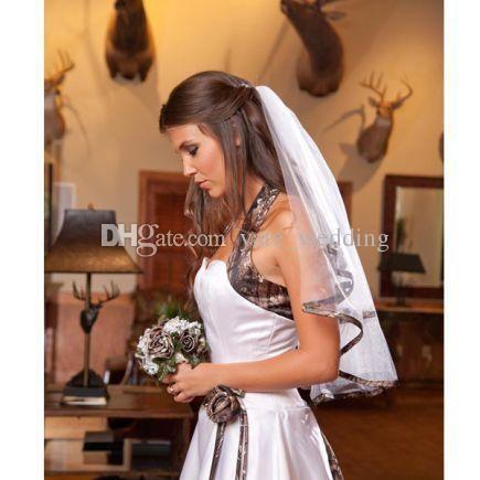 2015 Spring Camo Wedding Dress Strapless Satin Custom Made Plus Size Corset Wedding Gowns Chapel Train Vestidos De Novia Beach Bridal Dress