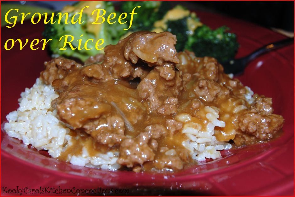 Ground Beef over Rice Recipe