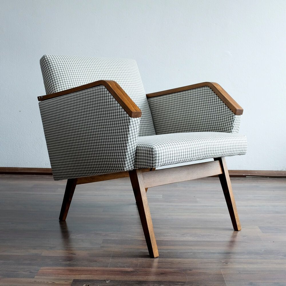 Vintage arm chair, 7s  Furniture design chair, Living room