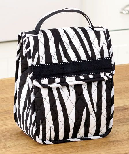 Fashion Print Quilted Lunch Totes|The Lakeside Collection