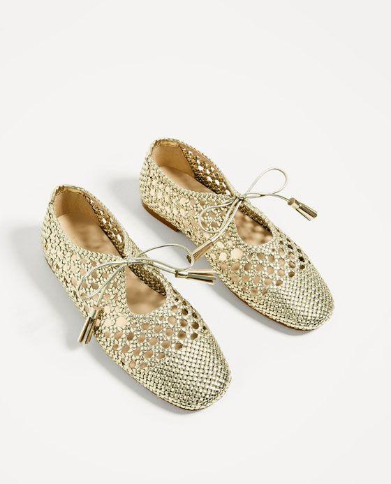 De Trenzado ZaraShoes Dorado Blucher Zapatos Imagen 3 wv8On0mN
