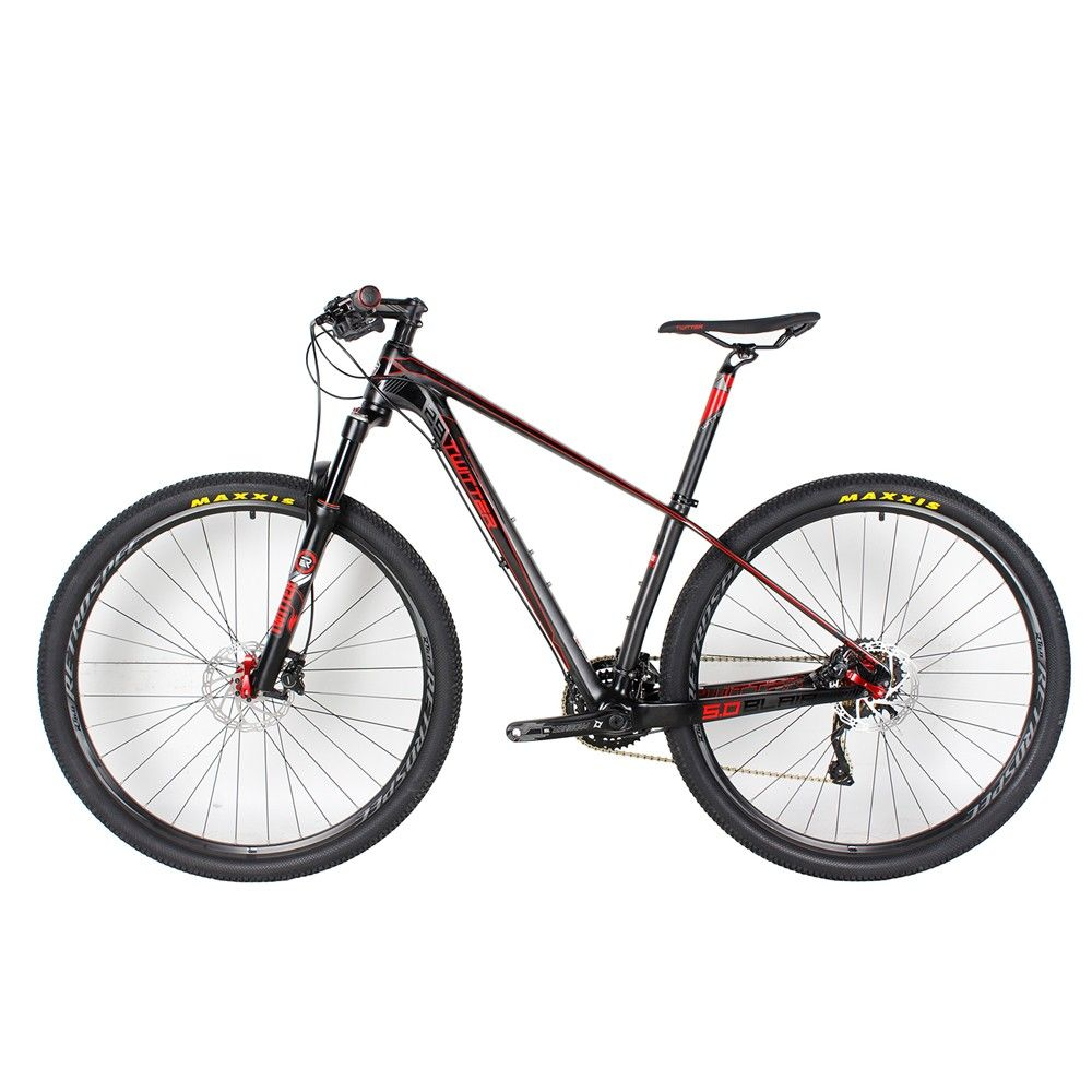 43a652529f4 TWITTER T700 29er Super Light Carbon Fiber Complete Mountain Bike  MAXIS-PACE Tire 30 Speed Hydraulic Disc Brake 15.5″ 17″ 19""