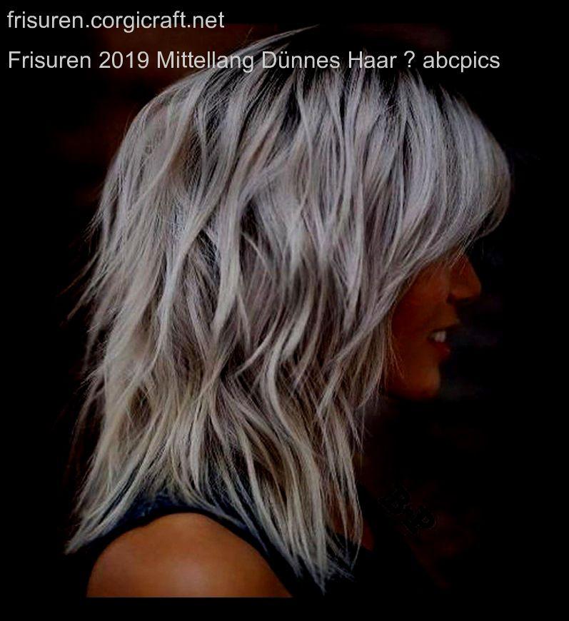 Frisuren 2019 mittellang dunnes haar