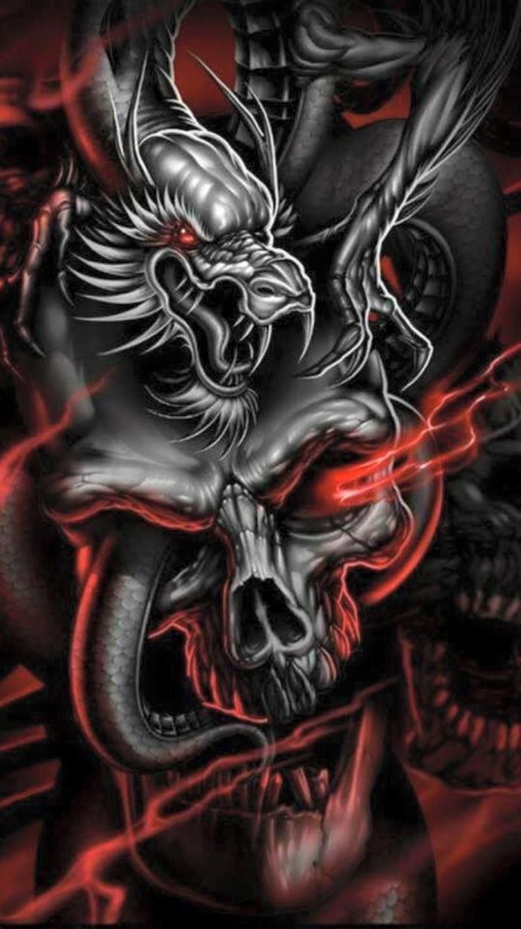 Art Illustration Iphone Wallpaper in 2020 | Skull artwork, Skull art  drawing, Dragon tattoo with skull