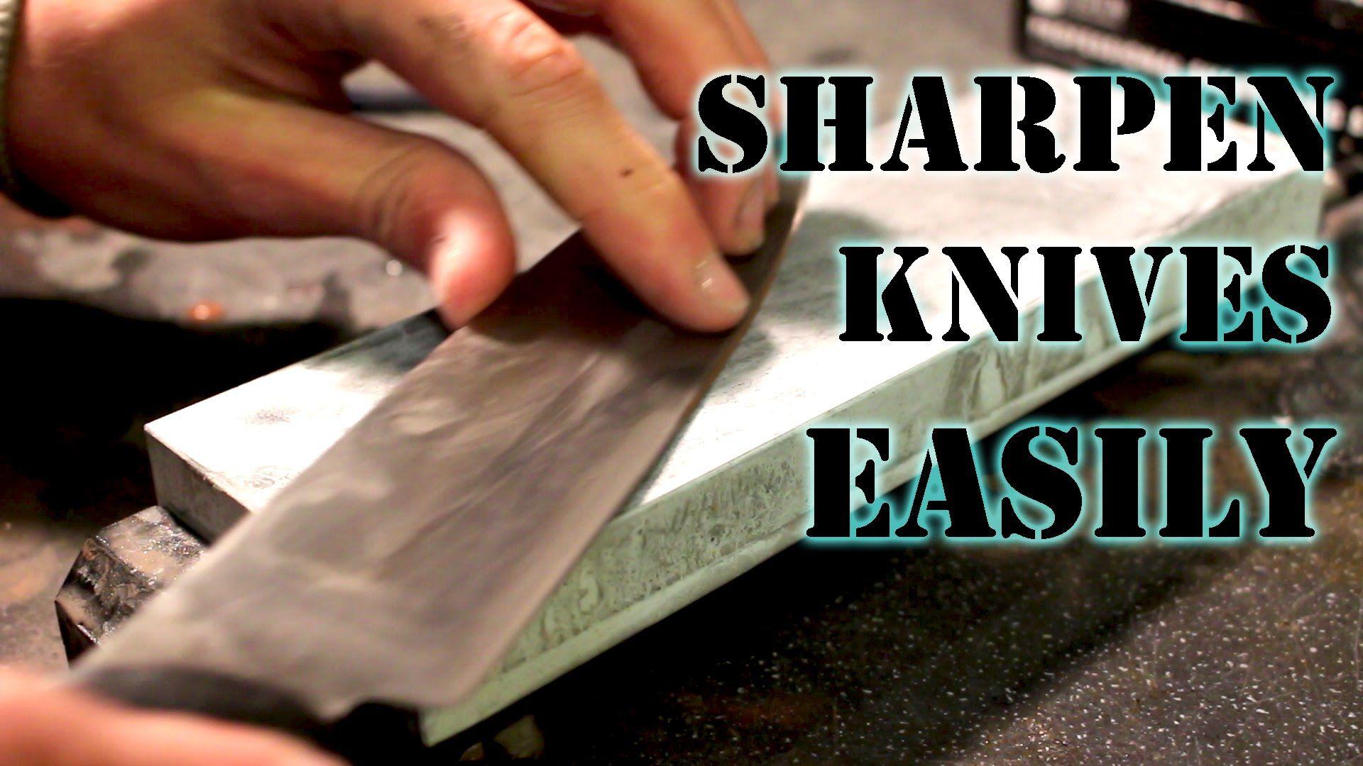 How to sharpen a knife to razor sharp using wetstones