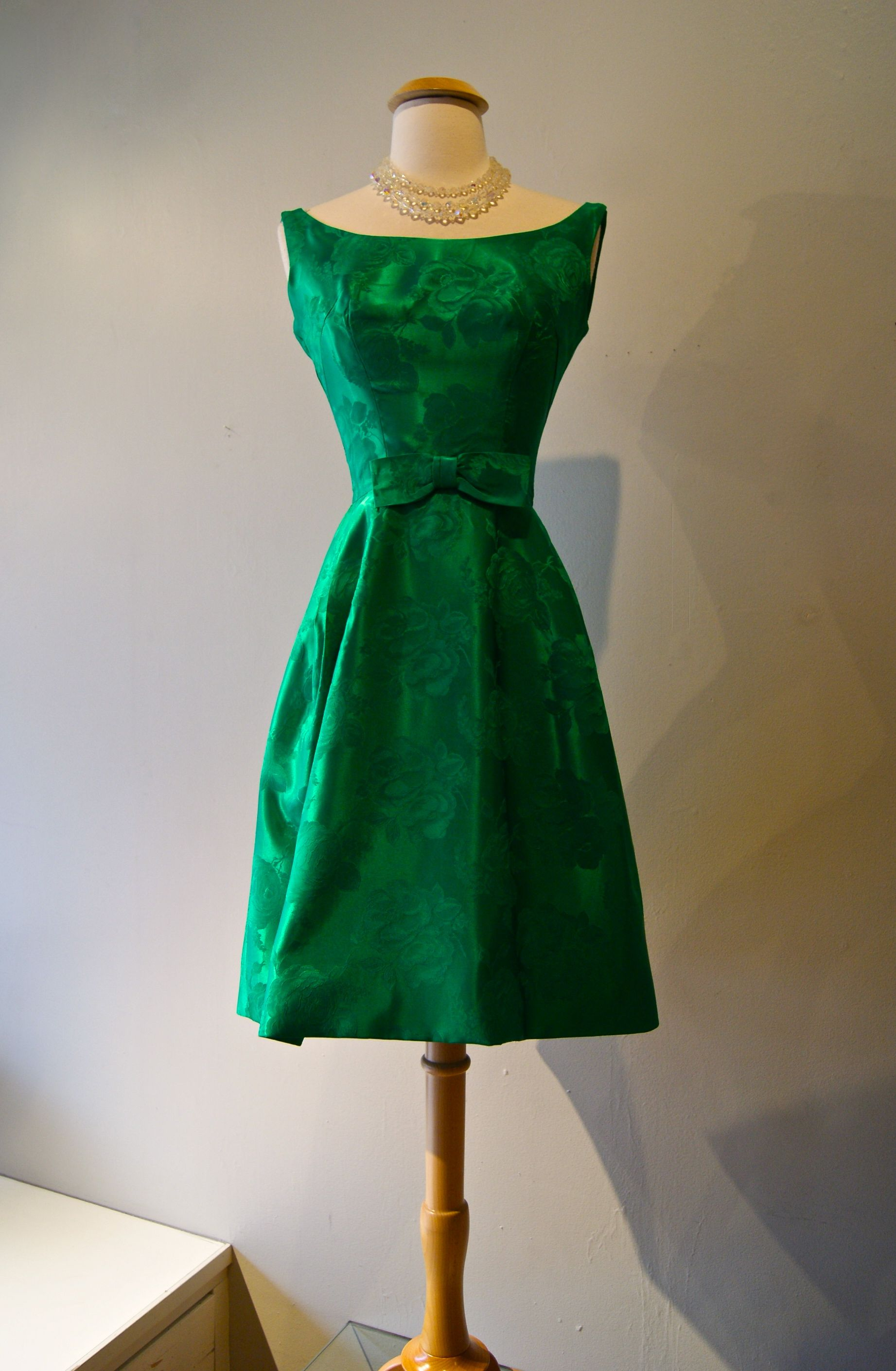 Vintage Dress 1960s Green Party Dress At Xtabay Vintage