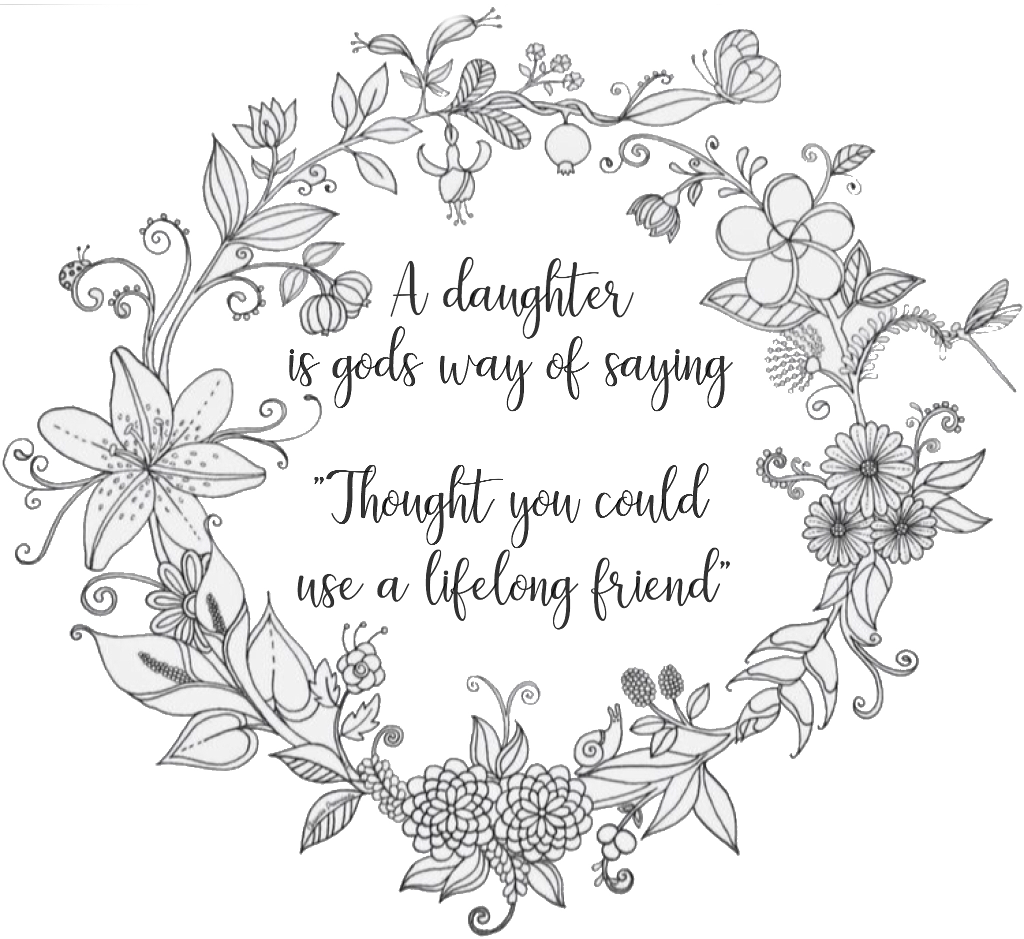 Daughter Quote Coloring Page Quote Coloring Pages Coloring Pages Daughter Quotes