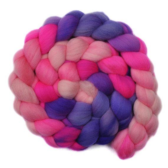 Hand dyed roving  Superfine Merino wool by EdgewoodGardenStudio