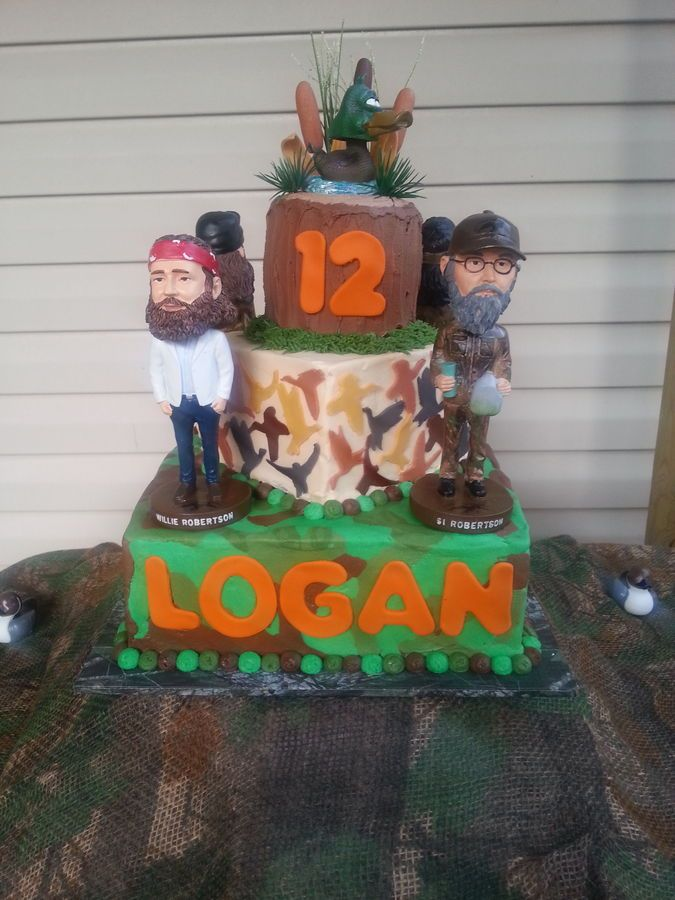 Duck Commander cake Duck Dynasty for the mountain man