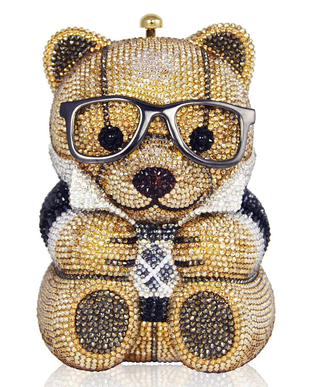 bdd039fbc Judith Leiber Couture Spencer Teddy Bear Evening Clutch Bag | Purses ...