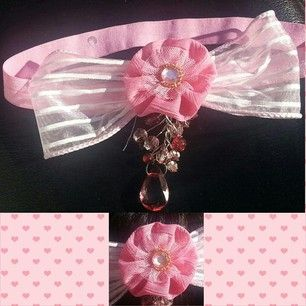 Pink jewel topped band more available at www.sionishair.com