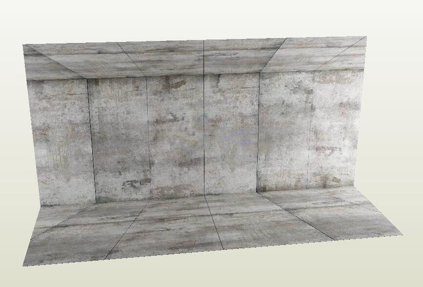Dioramas 166800 Fig D Con Figlot 1 12 Scale Backdrop For Toy Photography Concrete Wall Floor Buy It Now Only Concrete Wall Toys Photography Backdrops