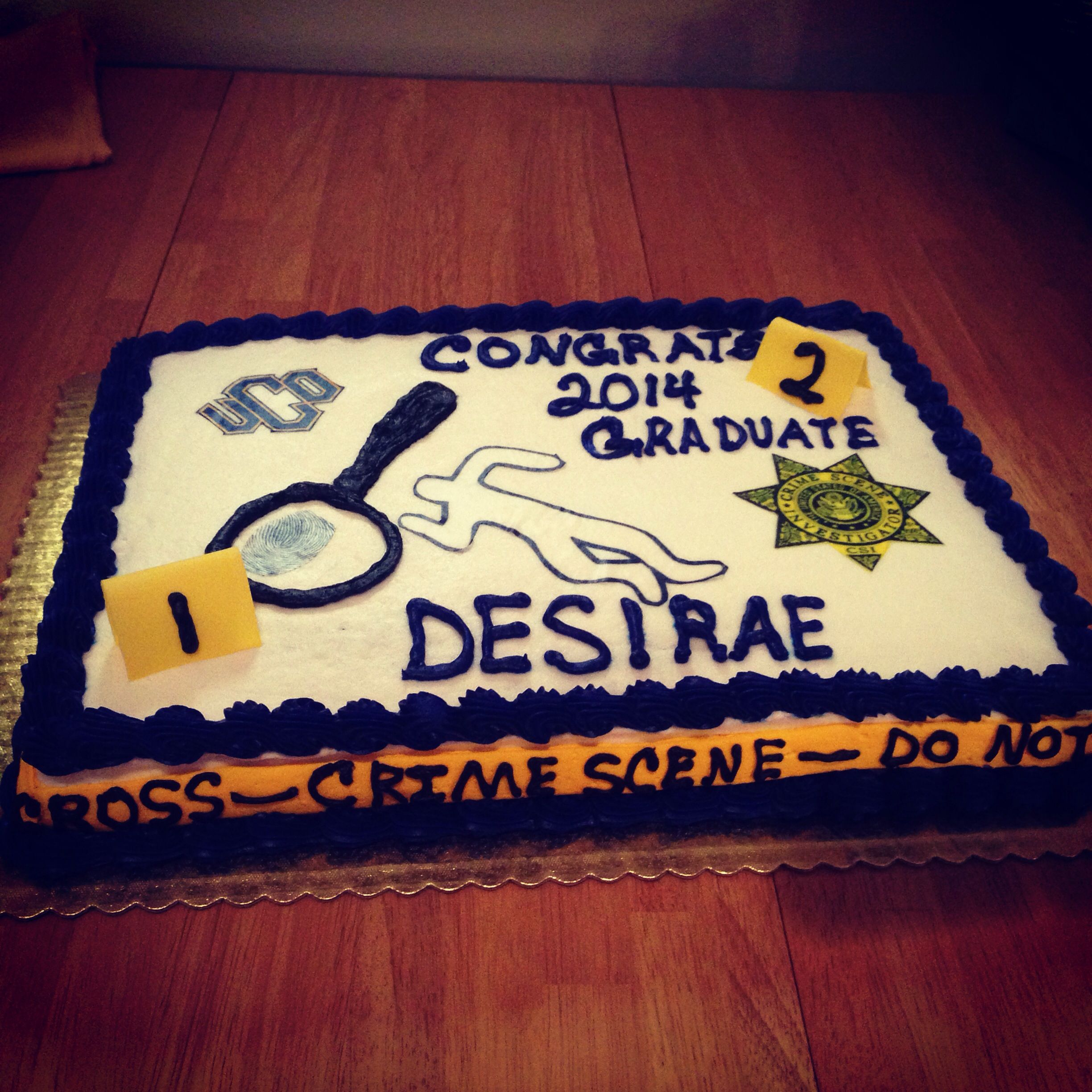 Cake Decorating Career forensic science themed graduation cake. | graduation ideas