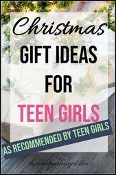 Christmas Gift Ideas for Teen Girls #christmasgiftideasforteens Christmas Gift I... - Elaine