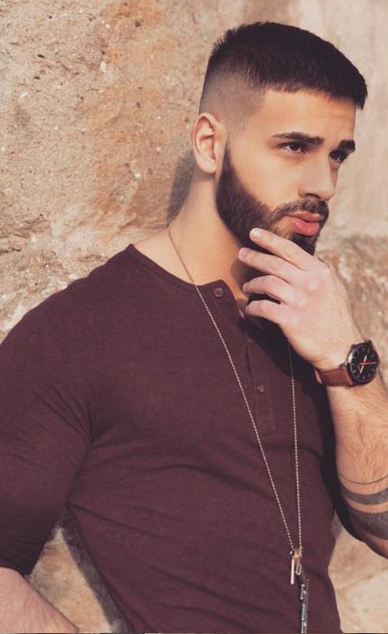 Home Blend Of Bites Short Hair With Beard Beard Styles Short Beard Styles For Men
