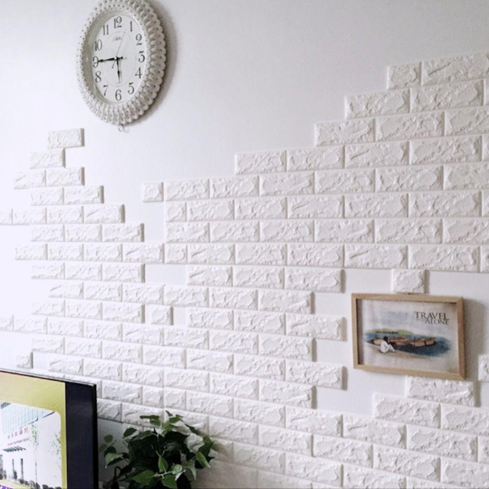 brick wall panel waterproof self adhesive sticker diy pe foam decorative also rh pinterest