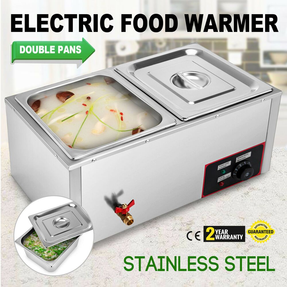 Ebay Sponsored 2 Pans Electric Food Warmer Large Capacity Stainless Steel Cafeterias Steam Tables Food Warmers Food Warmer Buffet