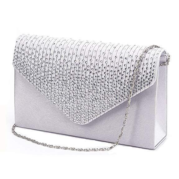 00bd4539612d Nodykka Women Evening Envelope Handbag Party Bridal Clutch Purse ...