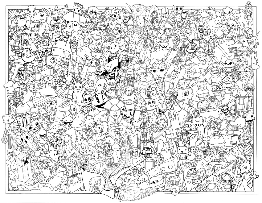 Safebooru Absurdres Angry Birds Clank Ratchet Clank Crash Bandicoot Crash Bandicoot Character Coloring Pages Mermaid Coloring Pages Fall Coloring Pages