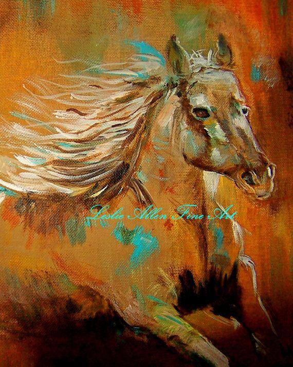 Horse Art Horse Painting Friesian Friesians by LeslieAllenFineArt