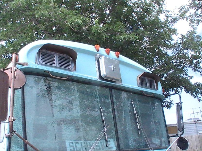 Cool School bus air conditioner idea. Airstream campers
