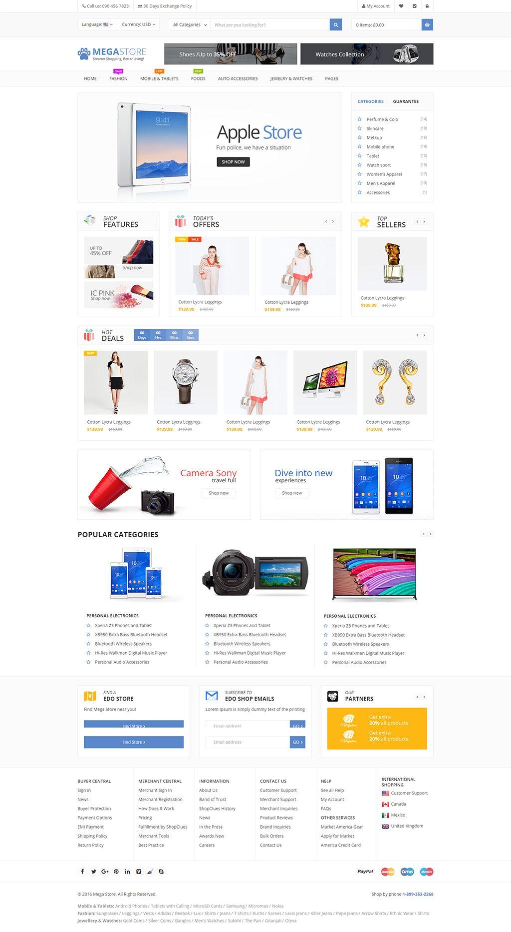 Megastore Multi Purpose Ecommerce Html Template Retail Site