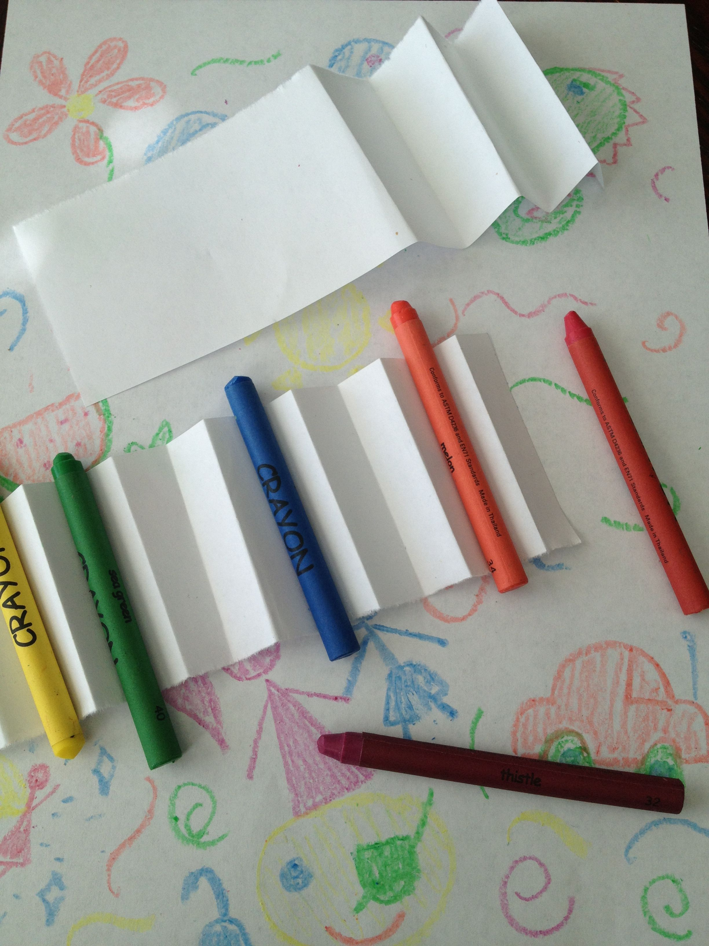 Diy To Keep Your Crayons From Rolling Off The Table