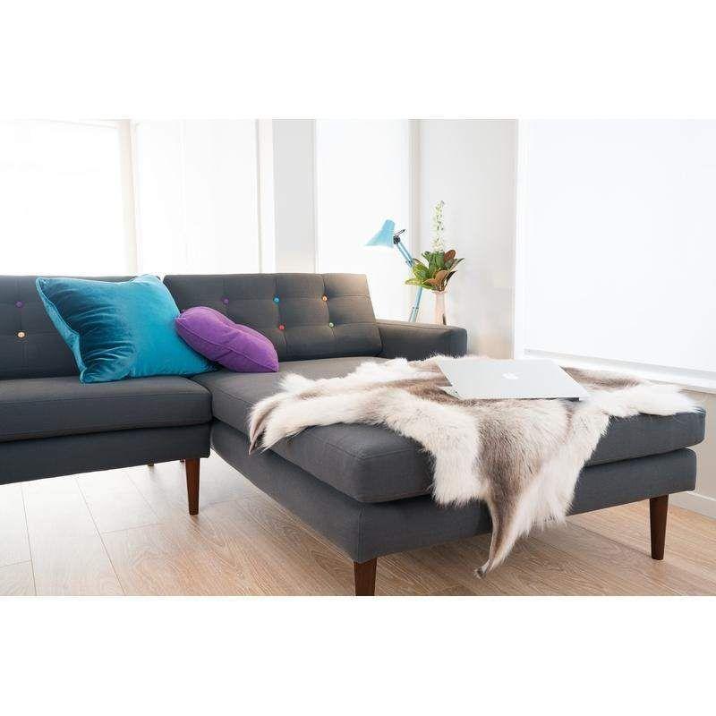 Button pop design corner couch with images pop design