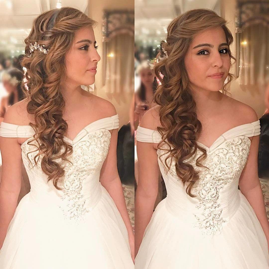 Hairandmakeupbyemilyh Hairandmakeupbyemily Wedding Hair Prom Hair Bridal Hair Sideswept Hair Mermaid Brai Mermaid Wedding Hair Bride Hair Piece Prom Hair