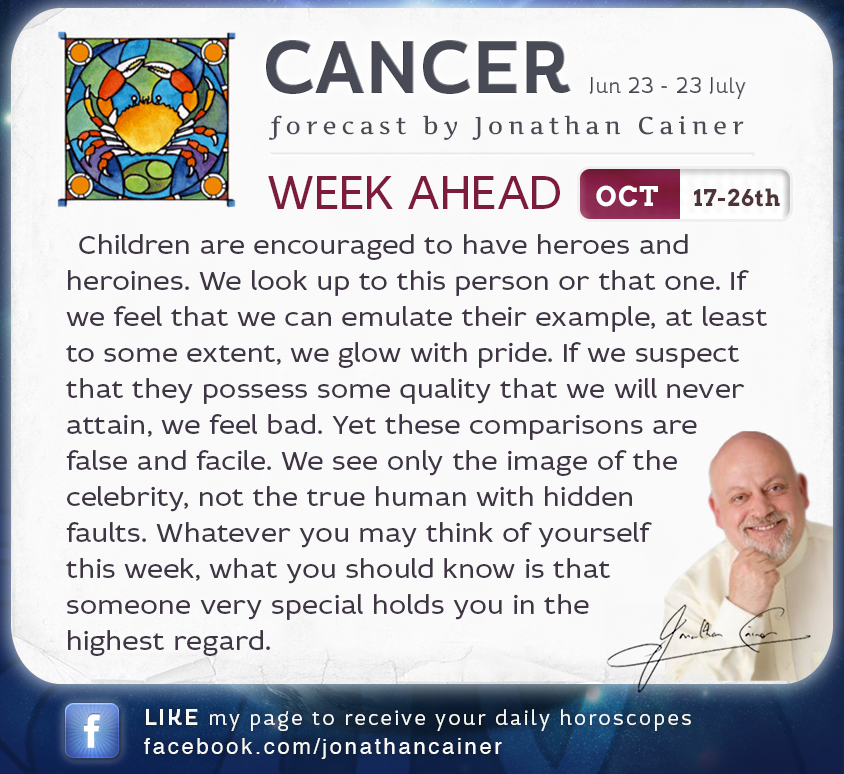 horoscope cancer weekly forecast