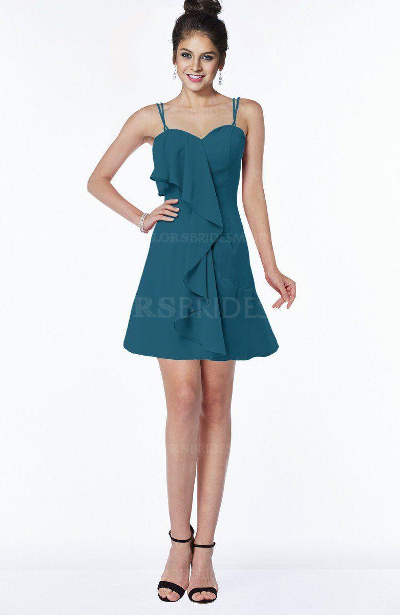 Mint Green Modern Sleeveless Half Backless Chiffon Knee Length Edging Bridesmaid  Dresses e1e07b2b4745