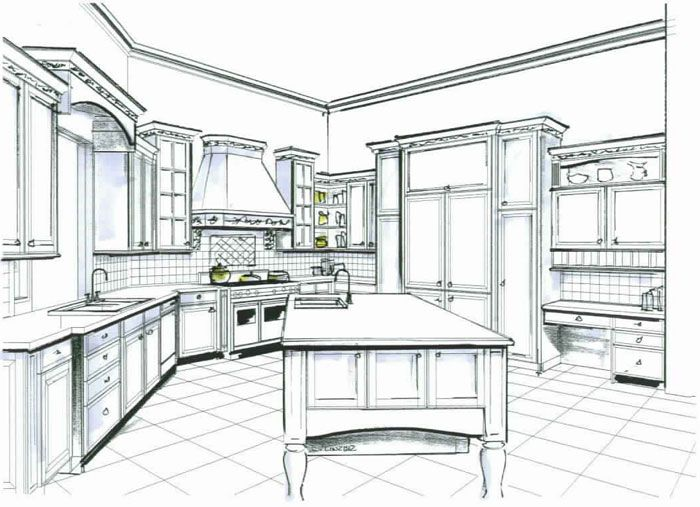 Interior Design Sketches Kitchen sketches for interior design otwzw | home design interior
