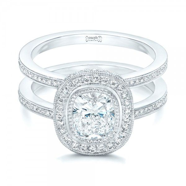 Custom Diamond Halo Engagement Ring #102542