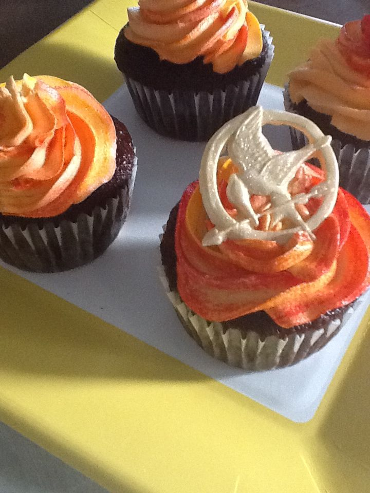 Hunger Games Cupcakes Baking Sweet Hunger Games Party Food