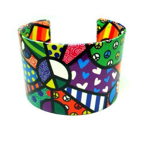 "Ladies Paper Art Metal Cuff Bangle Bracelet Fashion Avenue. $24.99. Inside Wrist Diameter Measures Approximately 2 1/2"" in Width"