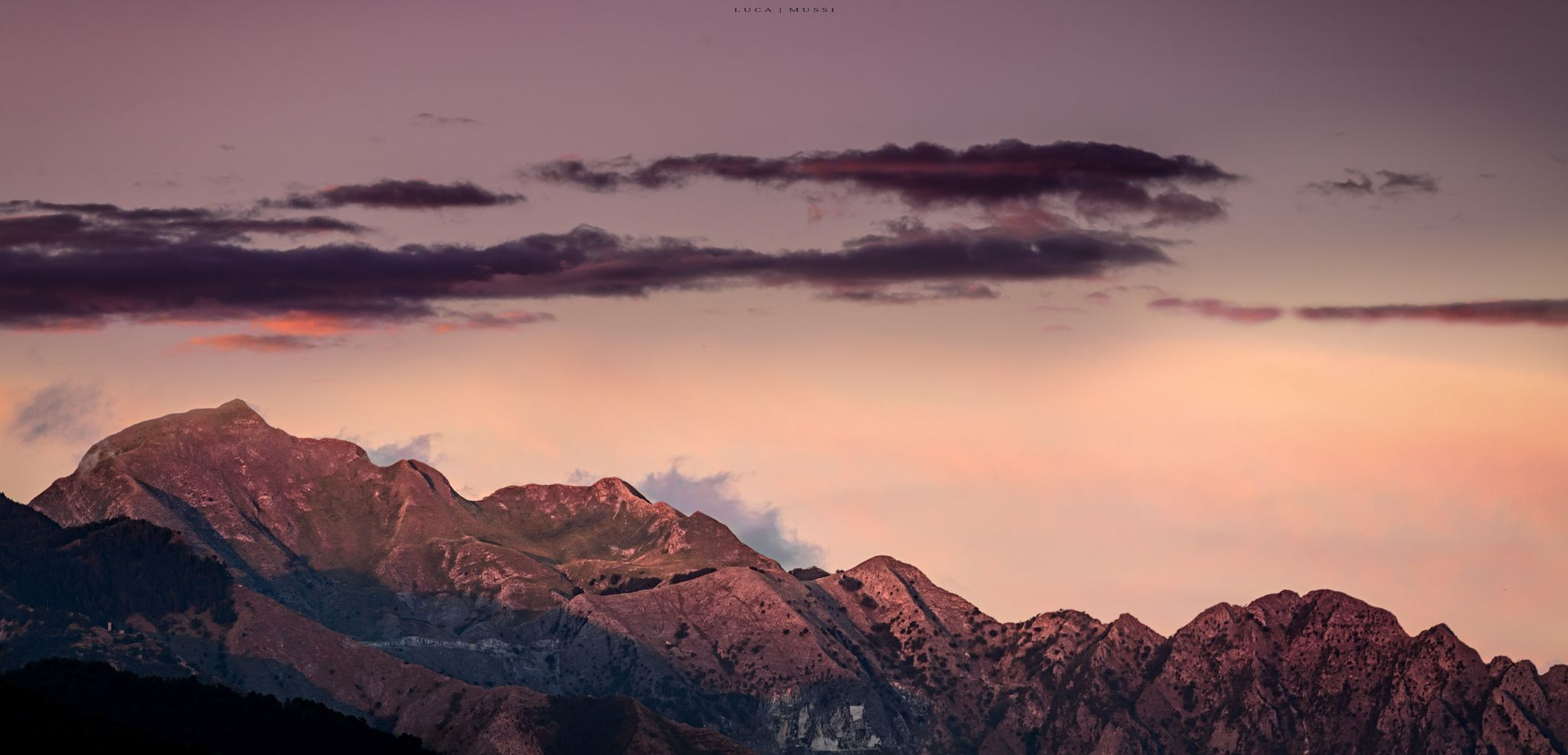 Pano of sunset on Mt. Sagro by Luca Mussi on 500px