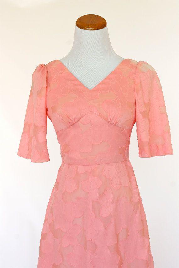 40\'s Vintage Prom Dress Pink Dress by pinebrookvintage on Etsy ...