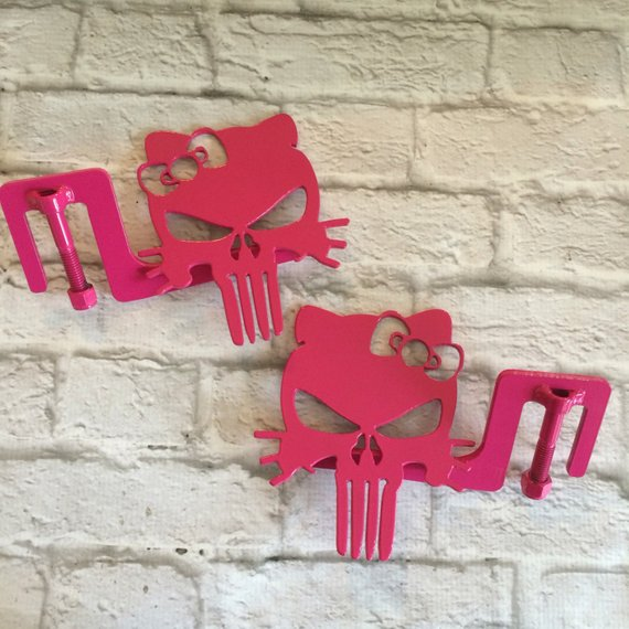 Sale Bow Kitty Punisher Skull Jeep Wrangler Footpegs Jeep