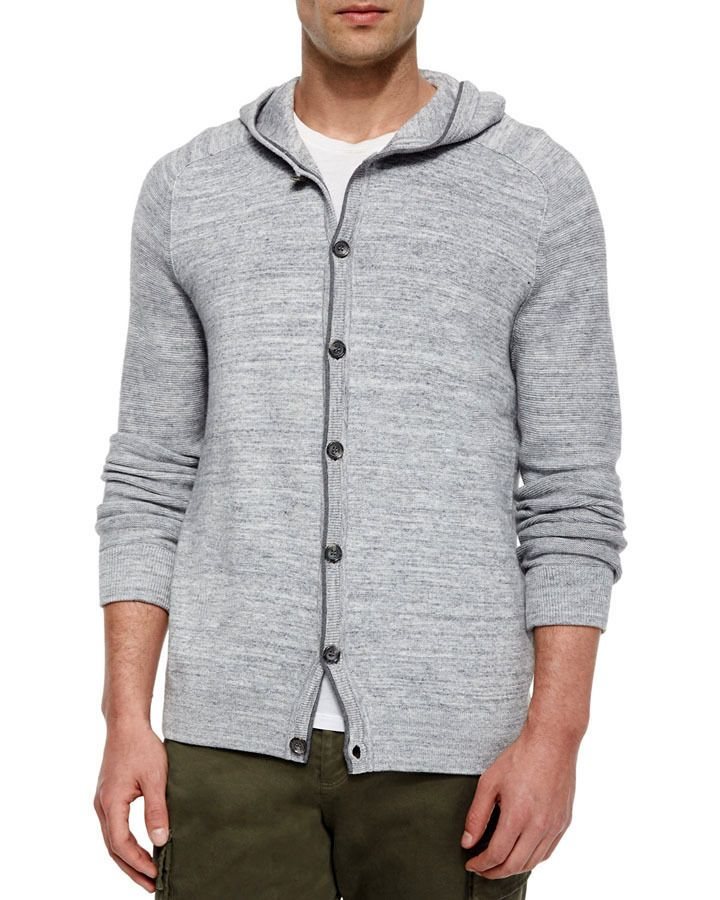 Vince Men's Hooded Button-Down Cardigan Gray XL NWT #Vince ...